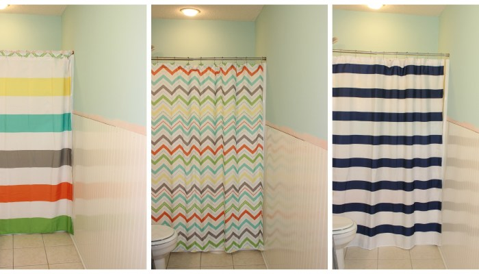 stripe shower curtain chevron nautical