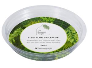 plant saucer clear plastic