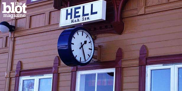 Here's a fun way to choose your next vacation destination: Go to a town with an embarrassing name. Here are 18 to get you started — now go to Hell (Norway). (exviking.net photo)
