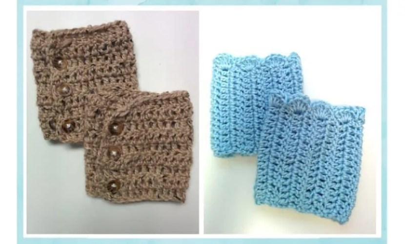 FREE Patterns: Crochet Boot Cuffs (2 versions) |