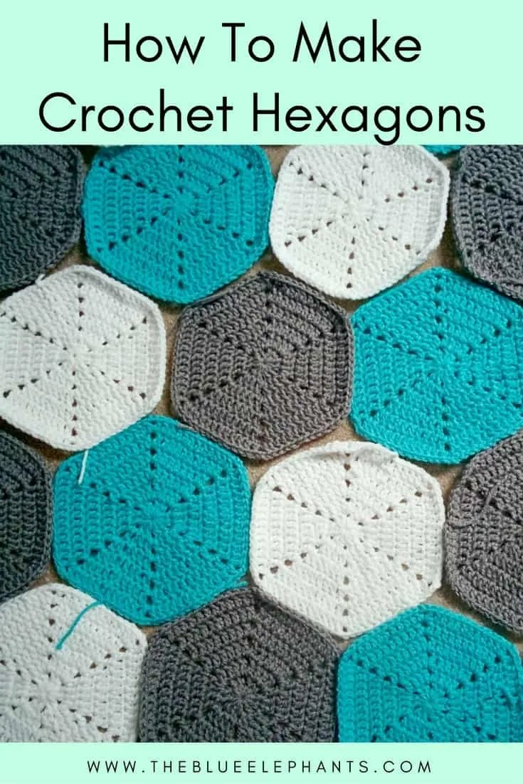 how-to-make crochet hexagons