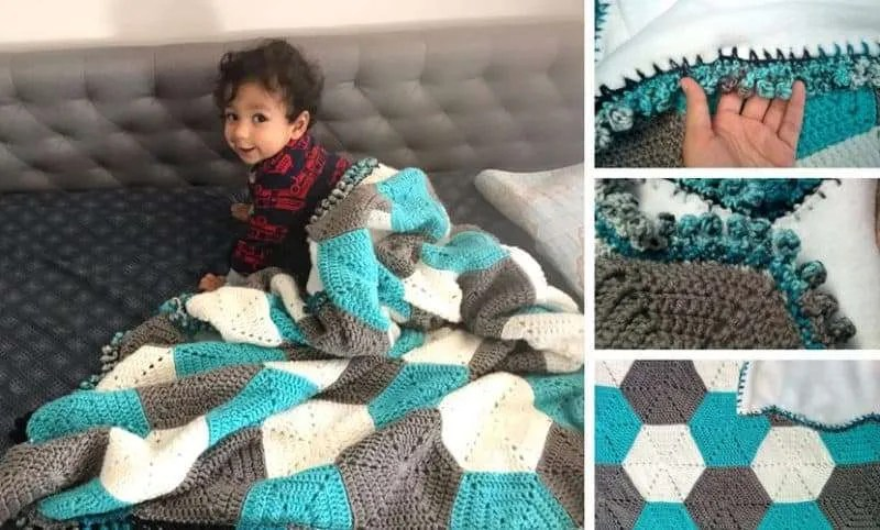 FREE Crochet Pattern: Hexagon Baby Blanket