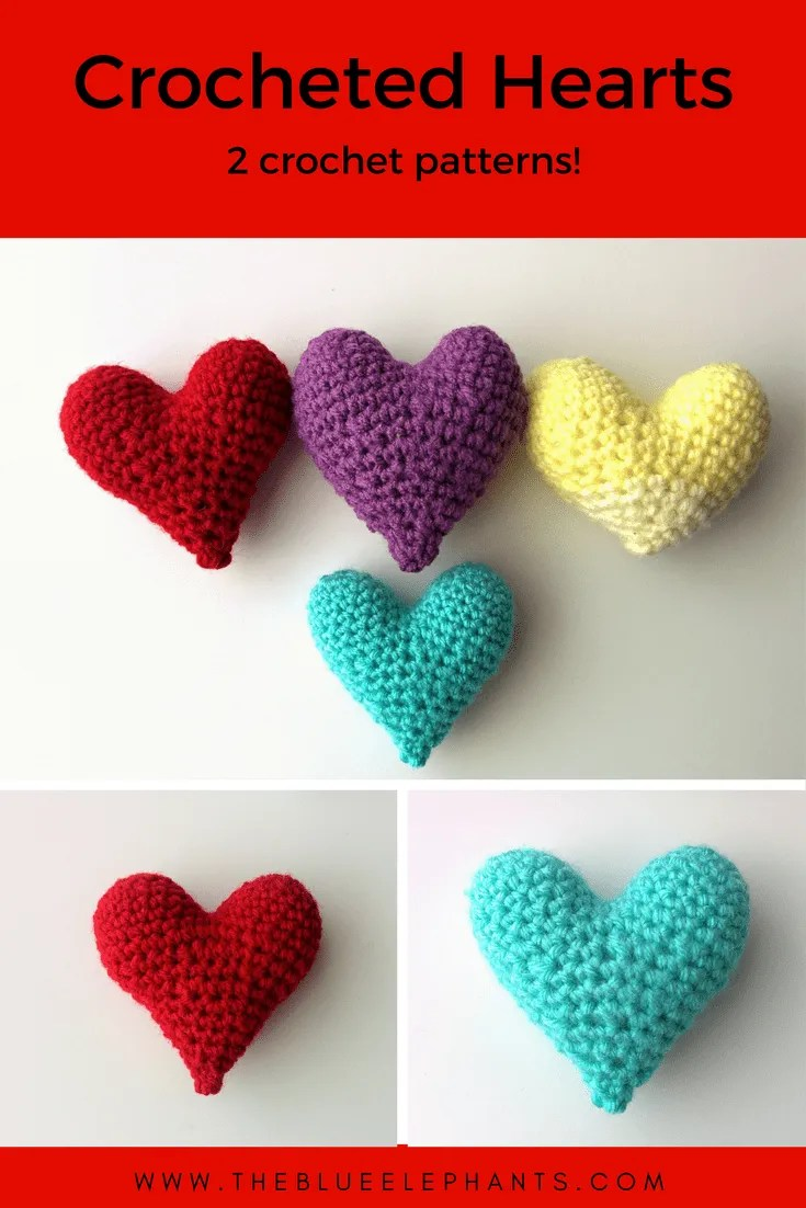 Crochet heart pattern national heart month the blue elephants crochet heart pattern bankloansurffo Images