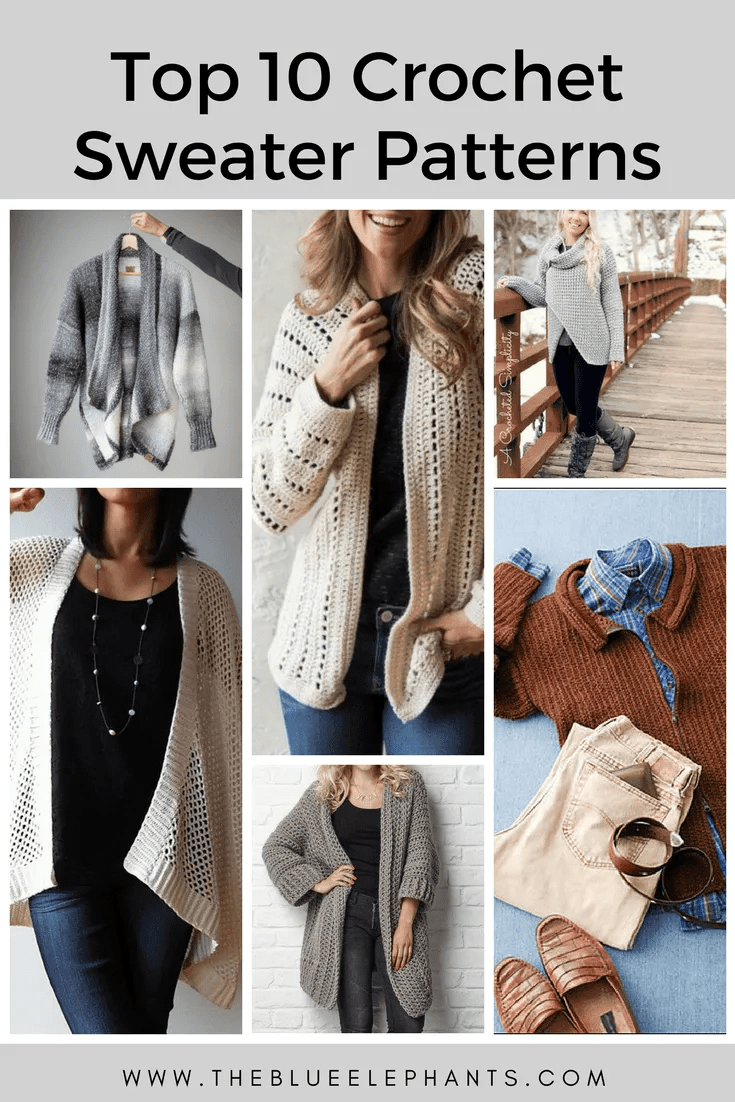 Top 10 Crochet Sweater Patterns