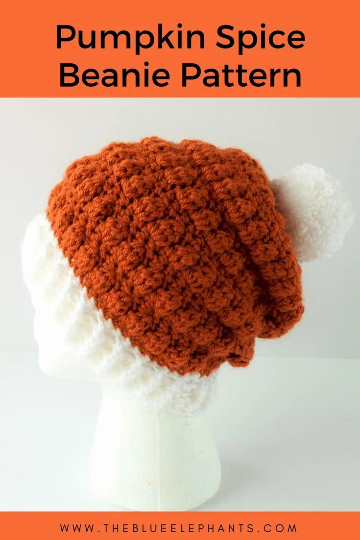 Pumpkin Spice Beanie Crochet Pattern |
