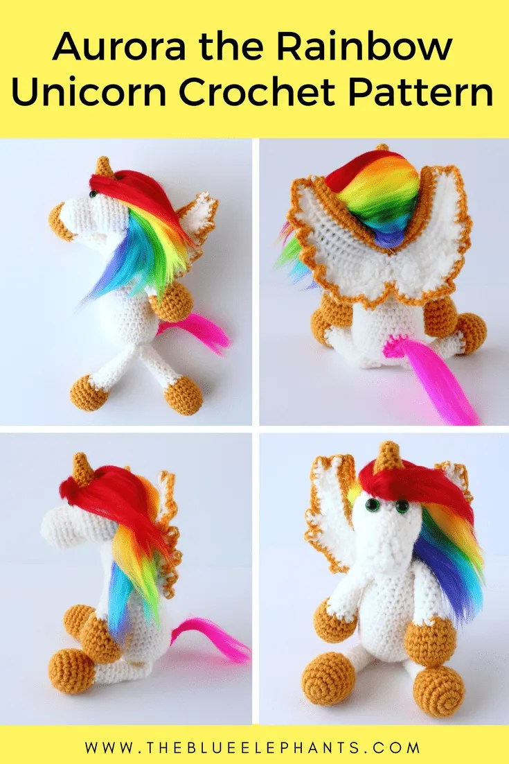 rainbow unicorn crochet pattern