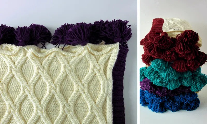 Twisted Cables Throw Free Chunky Knit Blanket Pattern