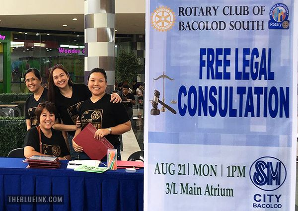 Rotary Club Of Bacolod South Holds Its First Free Legal Consultation