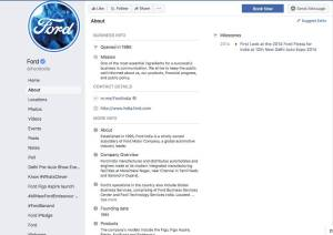 Ford Facebook Profile