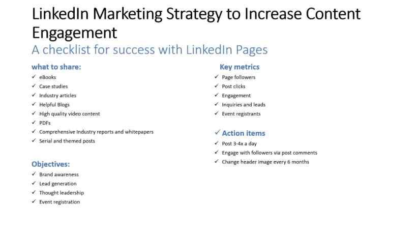 LinkedIn Content Engagement Checklist