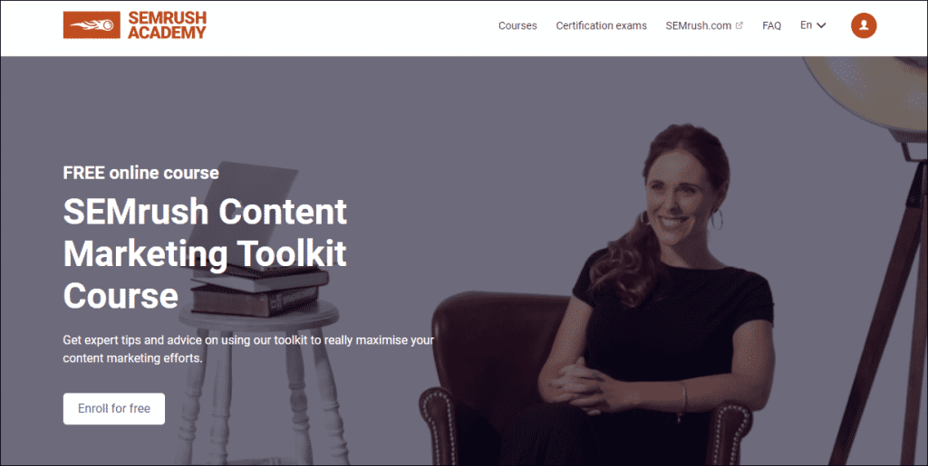 Content Marketing Course by SEMrush