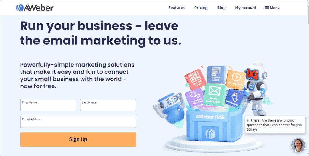 Aweber email marketing software