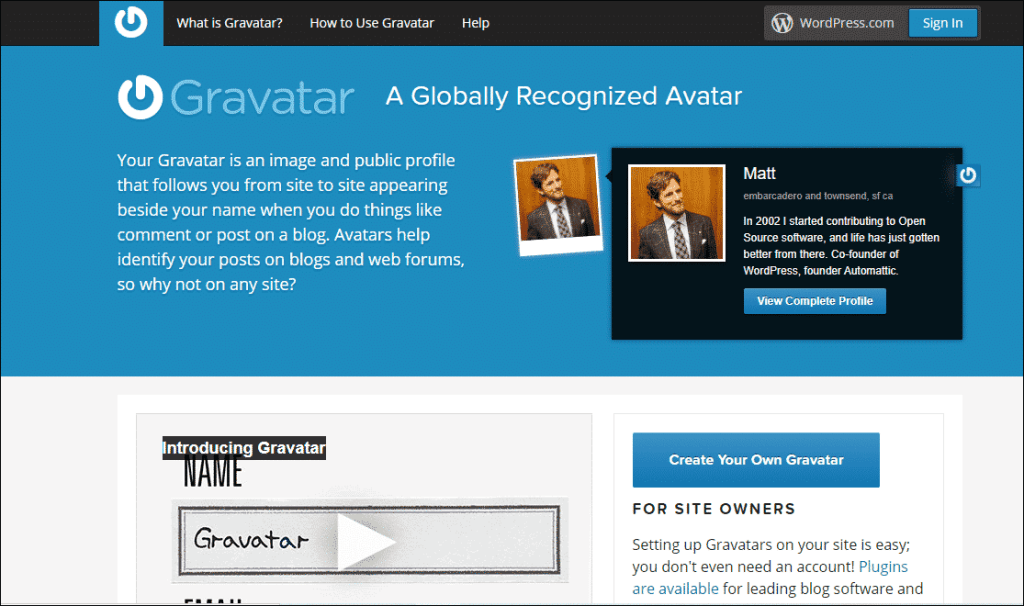 Make an account on Gravatar to get do-follow links for blog commenting