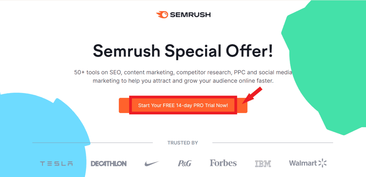 Semrush Special Offer for 14-day Free Trial