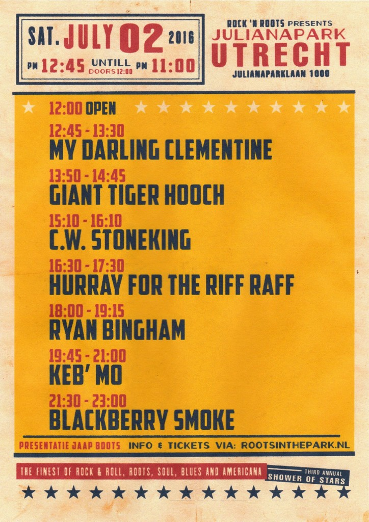 LINE UP - ROOTS IN THE PARK