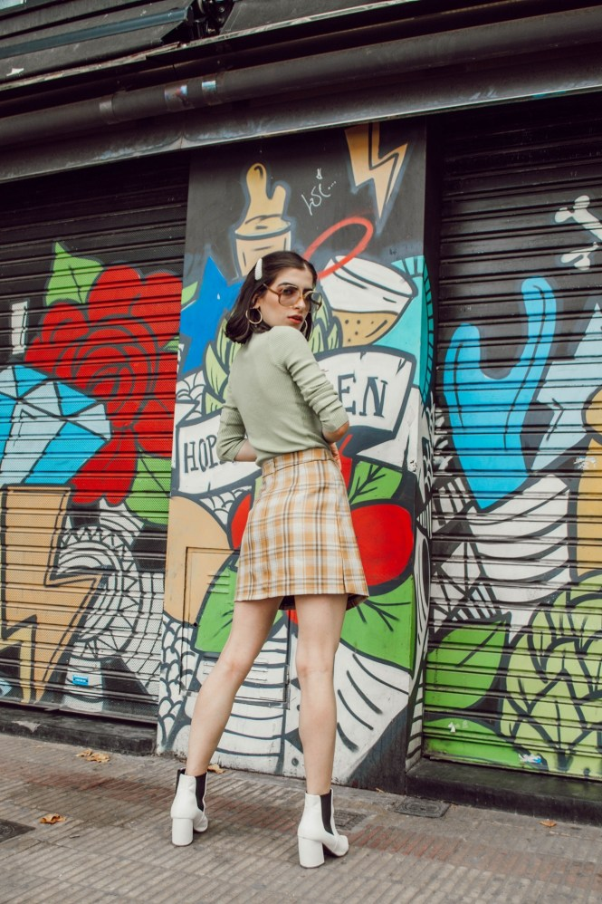sixties inspired fashion, 60s fashion, mod style, vintage styling, virtual stylist, outfit ideas, 70s style, 70s fashion, plaid skirt, fresh fits, theblueyedgal, the blue eyed gal, outfit inspiration, trends