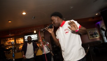 Rapper E. Hall pours his heart out on stage!