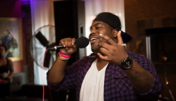 Rapper E. Hall shared his spotlight with friend and fellow artist rapper Big Tom.