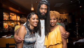 Jessica Washington, Sock the Rapper and BobbyPen enjoying TheBobbyPen.com's Revealed Day Party & Artist Showcase!