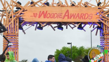 Entrance to the 2015 MTVu Woodie Awards at SXSW March 20, 2015.