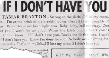 """Listen to Tamar Braxton's New Single """"If I Don't Have You"""" [VIDEO]"""