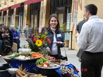 Dr. Nicole Brulé feasts prior to the Egyptian Theater UPA Tribute.