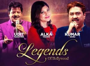 Udit Narayan, Alka Yagnik & Kumar Sanu Live in Concert this March