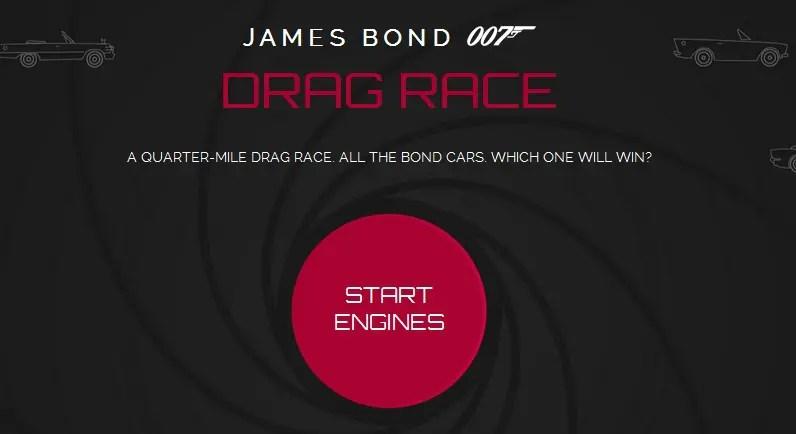 James Bond Car Drag Race