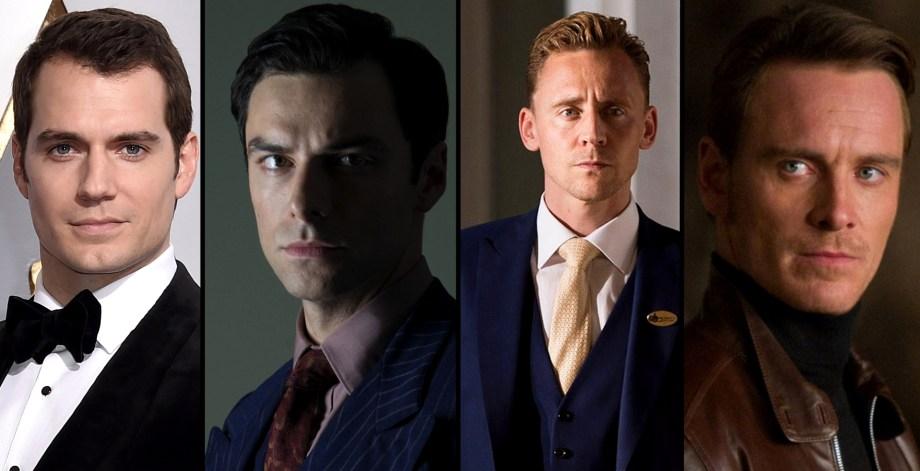 Replacement options for Daniel Craig? (l.t.r.) Henry Cavill, Aidan Turner, Tom Hiddleston, Michael Fassbender