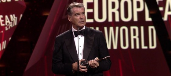 Pierce Brosnan honored with European Film Award