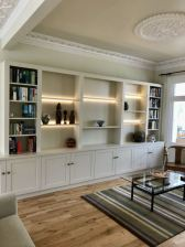 Fitted book shelving