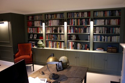 custom made built in bookcase