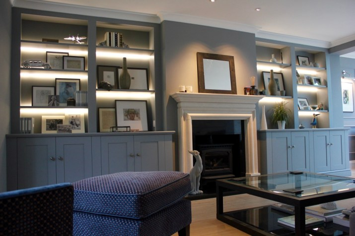 Bespoke fitted alcove units London