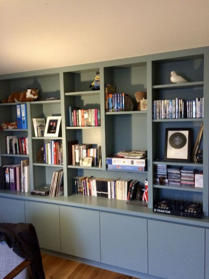 Useful storage custom made bookcase