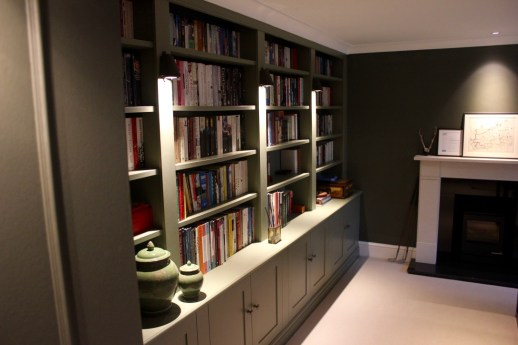built in bookcase for study