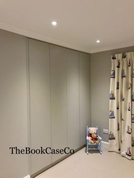 Flat panelled fitted wardrobe