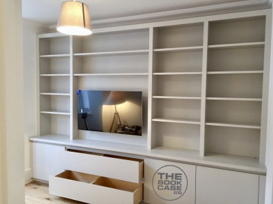 Entertainment bookcase in Wimbledon