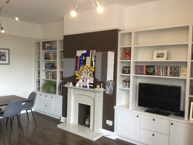 Pair of contemporary alcove units