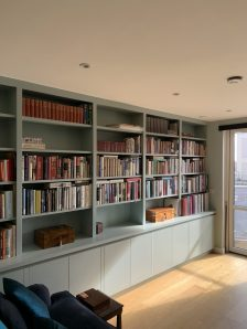Wall to wall shelving