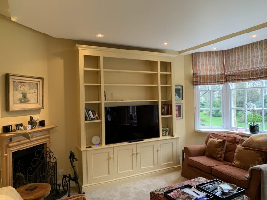 Purpose built TV Media Bookcase