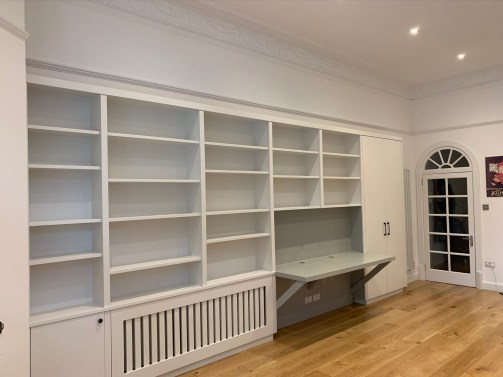 Wall to wall multi function bookcase