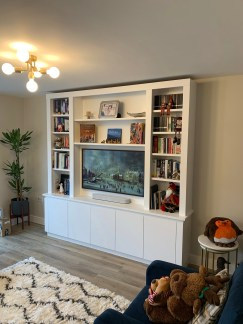 Freestanding Media Bookcase