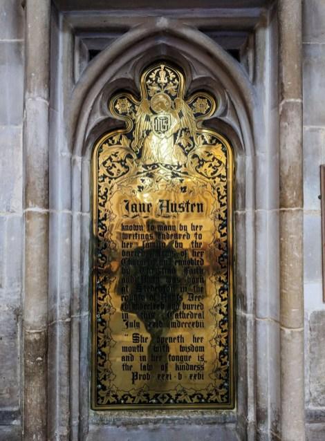 Jane Austen Memorial Plaque Winchester Cathedral