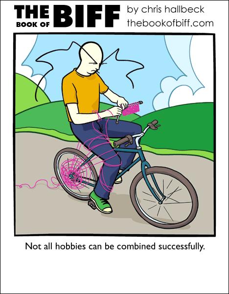Biff Knits on a Bike