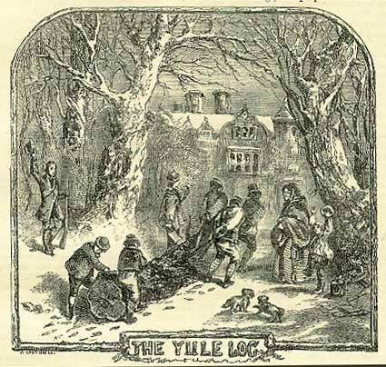 The Yule Log, from the Book of Days