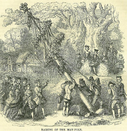 Rasing the May Pole