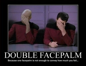 Double Facepalm (Star Trek TNG)