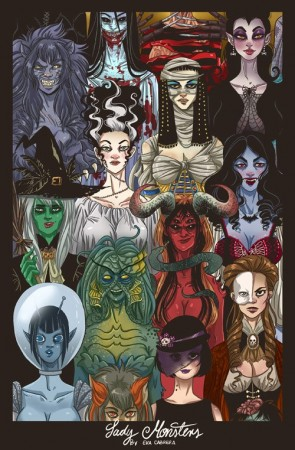 Lady Monsters by Eva Cabrera