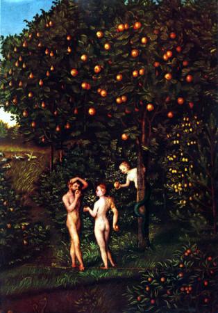 Lucas_Cranach_(I)_-_Adam_and_Eve-Paradise_-_Kunsthistorisches_Museum_-_Detail_Tree_of_Knowledge