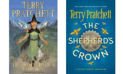 Terry Pratchets new novel The Shepherd's Crown. (l-r) UK cover and US cover